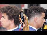 HAIRCUT TUTORIAL: TRANSFORMATION CURLY TOP BLURRY FADE