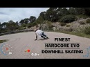 Finest HARDCORE EVO Downhill skating - Powerslide Inline Skates Ennui Protection