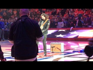 Bruce Kulick performs The Star Spangled Banner at the 12/23/16 LA Clippers Game
