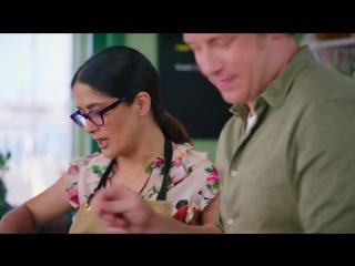 Salma Hayek Adds A Spicy Secret Ingredient To Jamies Dish _ Jamie And Jimmys F