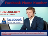 Facebook phone number: the most reliable & secured helpline number 1 850 316 4897