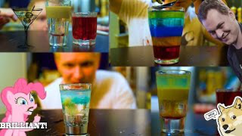 Алкогольные слоеные коктейли 18