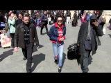 EXCLUSIVE Bella Hadid looking very joyful as she arrives at Paris Gare du Nord station in Paris