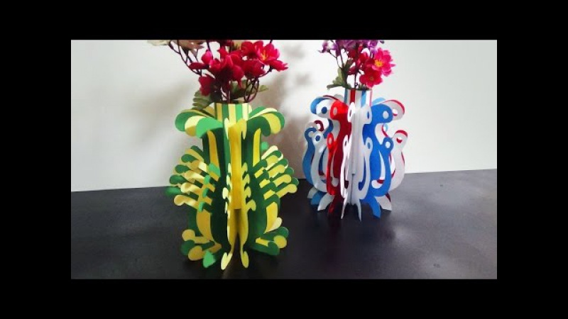 DIY Paper Flower Vase | How To Make A Paper Flower Vase Very Easy And Simple Steps |