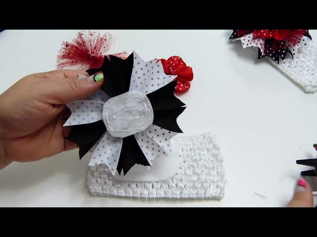 Rosetones de liston y Flores para Balacas de Niñas