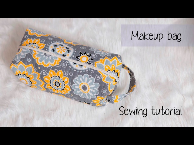 Quilted makeuptravel bag sewing tutorial