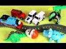 Томас и Его Друзья Машинки открывают Киндер Сюрприз. Динозавры Против Паровозика.