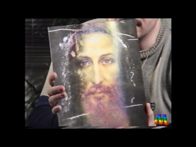 Николай Левашов демонстрирует лик Христа (Сан-Франциско 1994 г.)