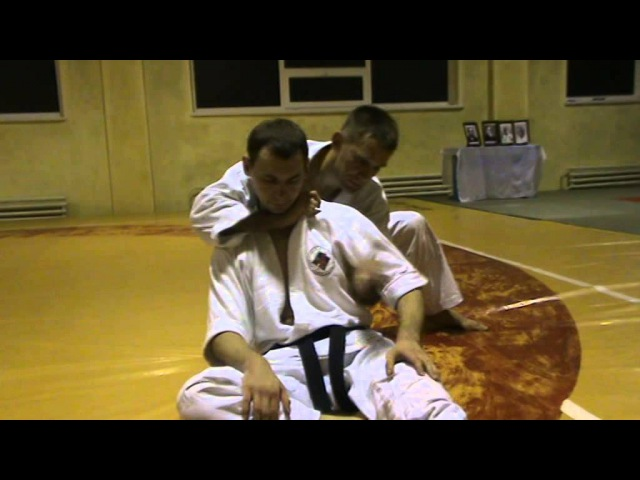 Бушинкан Дзю Дзюцу - ката удушаючих сидячи (Bushinkan Jiu Jitsu)
