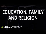 Social institutions - education, family, and religion Society and Culture MCAT Khan Academy