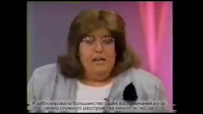Еврейка из семьи масонов на шоу жалеет о приношении детей в жертву дьяволу.