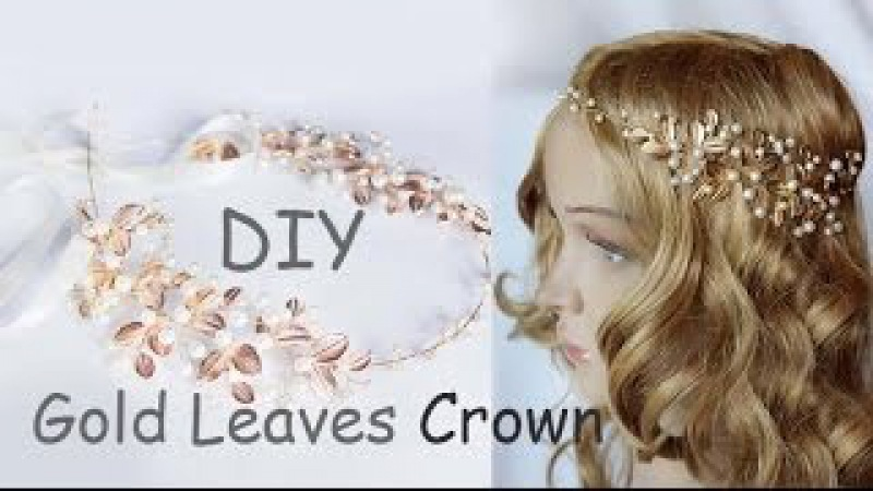 How to Make Gold Leaves Head Crown Tiara Comb EASY DIY