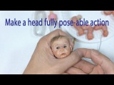 Attaching the head to neck (Part44) - Mini Baby Fully pose-able action (V26)