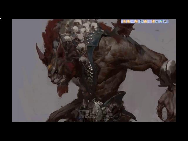 China Digital Painting - Monster painting - Fenghua Zhong Part 2/2