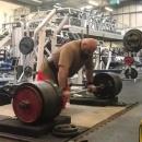 Лоуренс Шахлае, тяга 370 кг на 3 раза