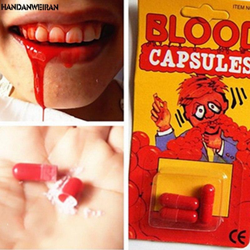 Капсулы с Кровью для Прикола Съедобные