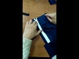 Вшиваем змейку в юбку с закрытой шлицей