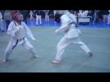 Агафонов Иван  (белый шлем) 1-й бой