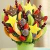 Авторские букеты из конфет и фруктов