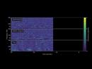 Звук гравитационных волн от слияния нейтронных звезд.