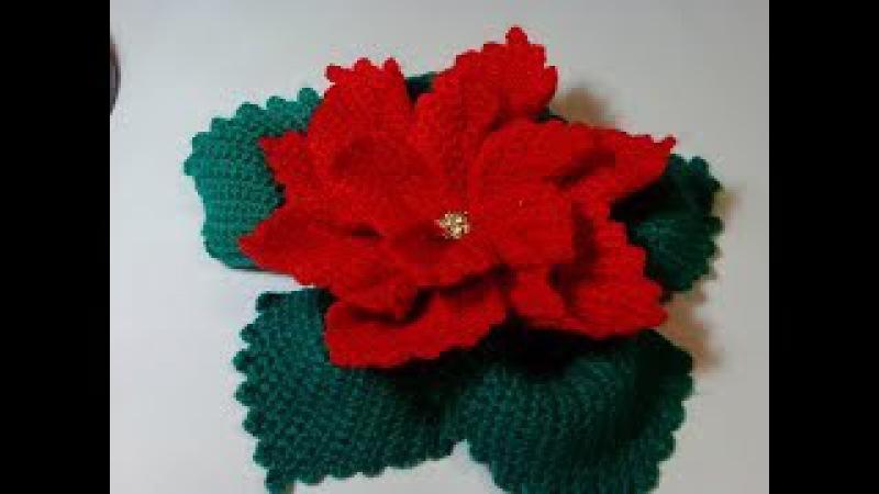 Цветок Рождественская звезда. Flower Christmas star. Crochet. Амигуруми. Игрушки крючком.