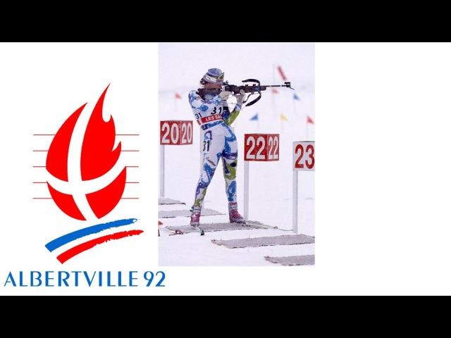 1992 Winter Olympics - Women's 15K Biathlon