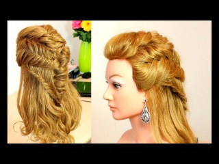 Easy braided hairstyle for long medium hair with braids