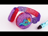 Rainbow Dash 3D Headphones Drawing With 3D PEN My Little Pony Video for Kids