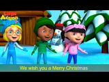 We Wish You a Merry Christmas with Actions and Lyrics  Children's Xmas Song  Little Action Kids