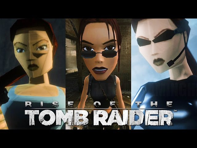 Rise of the Tomb Raider (PS4) - Classic Skins Big Head Mode Gameplay @ 1080p HD ✔