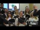 A kárpátaljai ukrán baptisták összevont kórusa a Szatmárnémeti Magyar Baptista Gyülekezetben