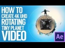 How to create 4K UHD Rotating Tiny Planet Video with Nikon Keymission 360 Gear 360 Ricoh Theta