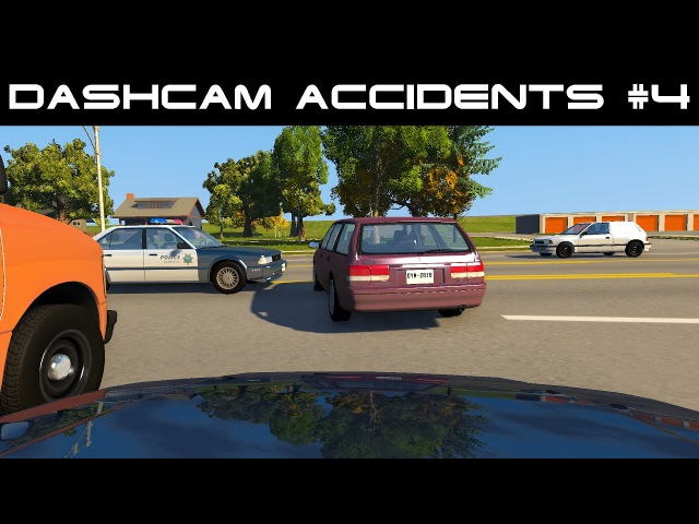BeamNG drive Dash Cam Accidents 4 Crash Compilation real voices
