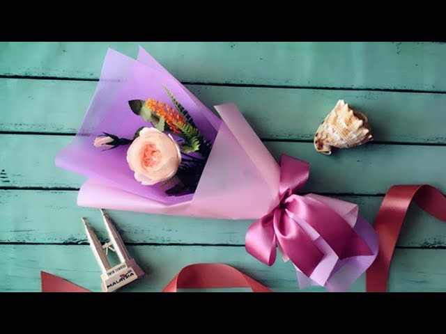 ABC TV | How To Make Flower Bouquet With Single Rose 3 - Craft Tutorial