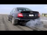 1100HP Audi S4 B5 Bi-Turbo - LOUD START &amp ACCELERATIONS!