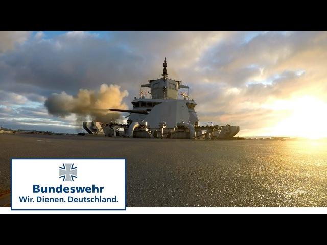 Die neue Fregatte der Bundeswehr Feuer aus allen Rohren