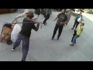 Teen Attacks Elderly Man With Cane