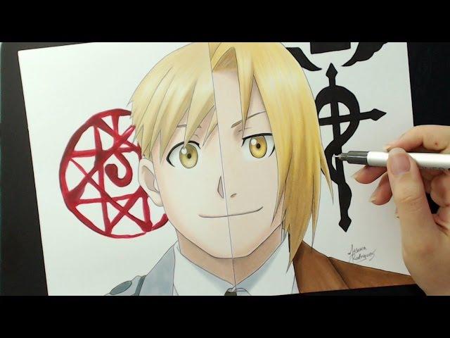 Speed Drawing - Alphonse Elric | Edward Elric (FullMetal Alchemist)