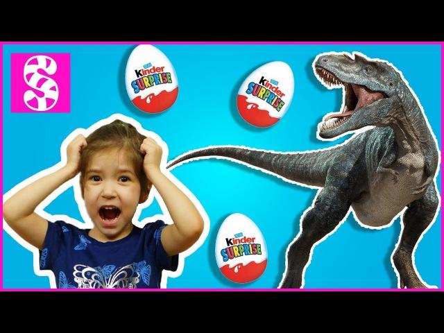 Bad Baby STEALS Dinosaur Eggs. Вредные детки украли яйца у Гигантского динозавра. Bad Kids STEALS