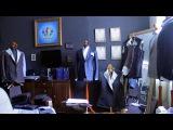 Подрезка и изготовление нижнего воротника мужского пиджака