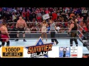 Brock Lesnar vs Roman Reigns vs Samoa Joe vs Braun Strowman Match | WWE SummerSlam 2017 Universal