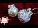 Новогодние шары. Кружевная роспись. Мастер-класс от Ютты Арт. Декор к новому году. Как украсить?