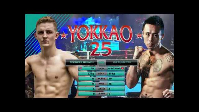 YOKKAO 25 Spencer Brown vs Lui Chun Yin (63kg)