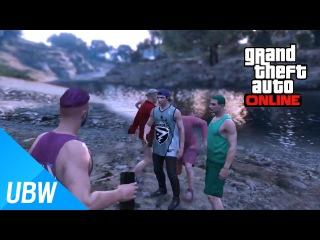 GTA 5 여섯 남자의 모험:계곡 바캉스 - GTA 5 Funny Moments: Vacation travel to the valley