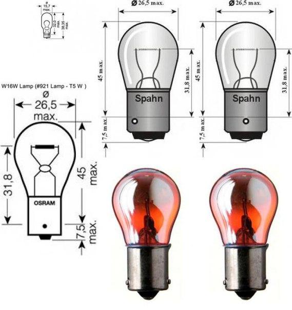 Лампа накаливания, фонарь указателя поворота для BMW X3 (F25)