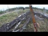 Черный медведь атакует лучника