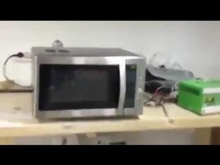 Микроволновка на сигнализации
