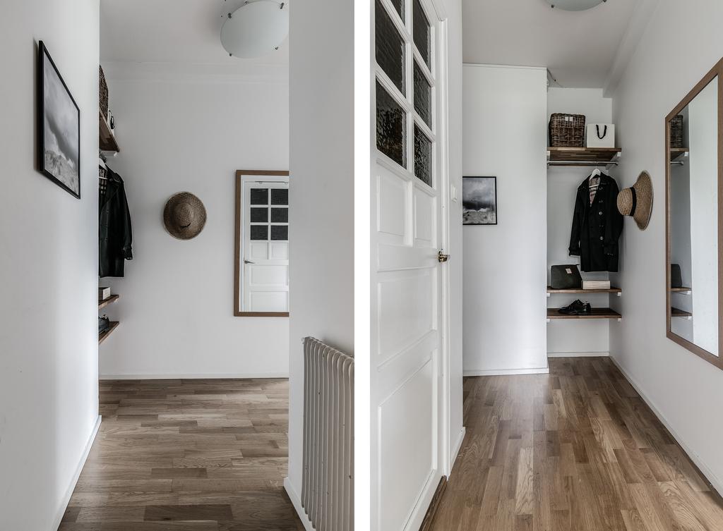 Скандинавский интерьер: квартира 41 м с выделенной спальней.