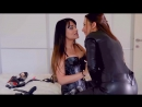 The 2 most hot girls kissing all in jitrois corset leather BDSM lesbian corset a