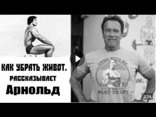 КАК УБРАТЬ ЖИВОТ- Арнольд Шварценеггер